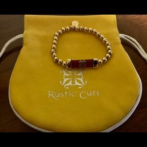 Rustic Cuff Shawna in red and gold
